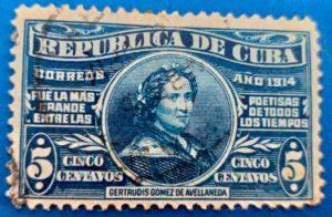 Sello dedicado a Gertrudis Gómez de Avellaneda