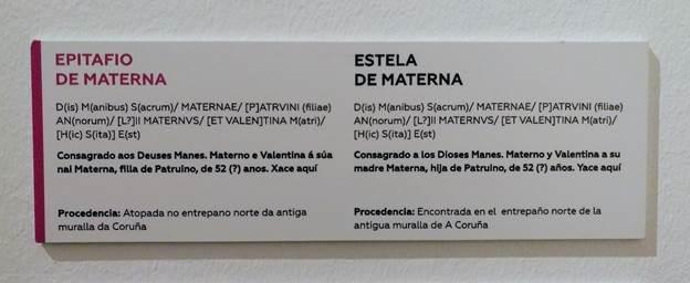 Estela de Materna - Inscrición